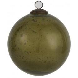 Julekugle i pebblede glas - Oliven