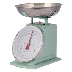 Retro køkkenvægt i pastel grøn