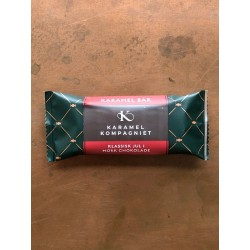 Klassisk julekaramelbar med mørk chokolade - Karamel Kompagniet