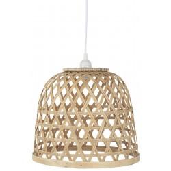 Loftlampe med bambus skærm