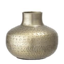 Messing vase med mønster