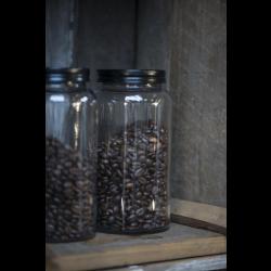Opbevaringsglas med sort låg 800 ml