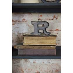 R - tegn i mørkt metal - Lille