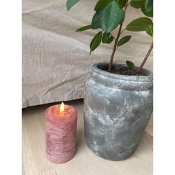 Rosa LED bloklys - Mellem