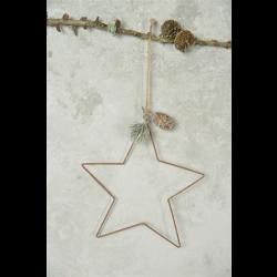 Stjerne i gammel rustik look - 18 cm