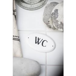 WC metalskilt